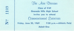 Graduation Ticket 1969